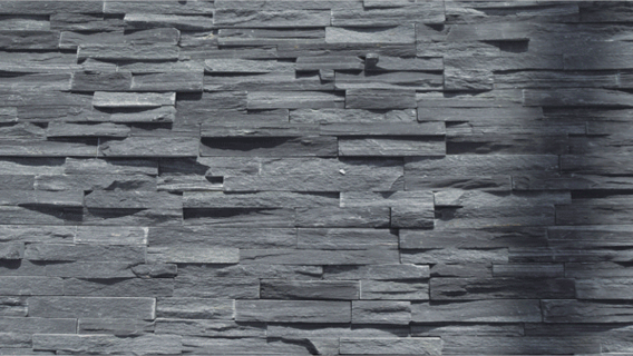 Kinslate Ledgestone Charcoal S-0510A